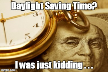 "The mass delusion called ""Daylight Saving Time"""