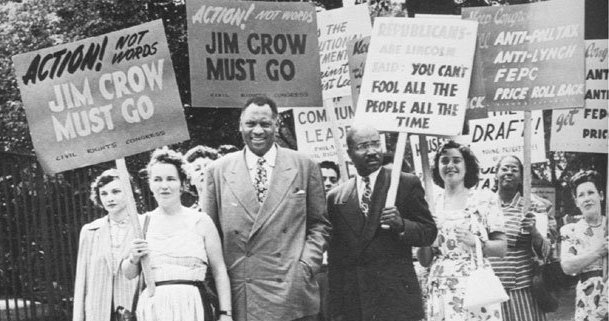 Quarter million negroes under Jim Crow laws again