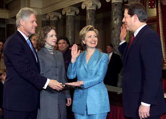 Hugh Rodham-Chelsea Clinton - 2